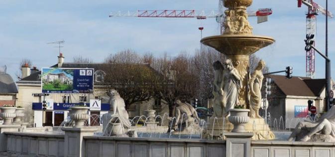 La fontaine de la place du Général De Gaulle